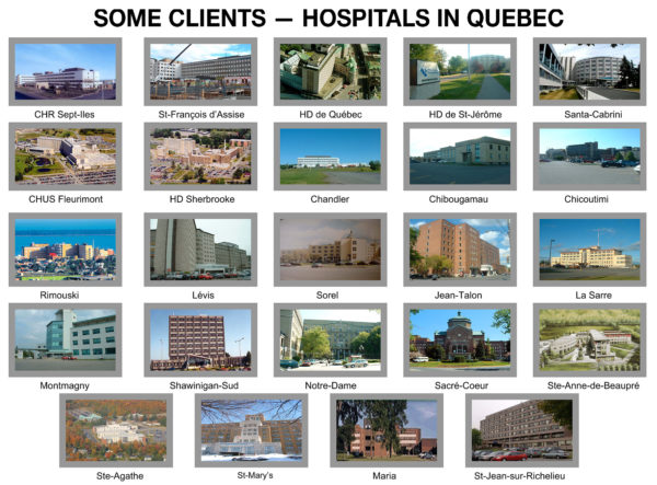 Pneumatic transport - clients - Hospitals in Quebec